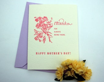 Thanks For Always Being There, Happy Mother's Day - Greeting Card