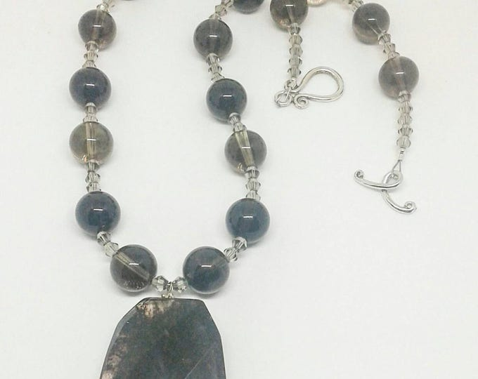 Item # 201726, Ellie, 22 Inches long, Necklace and Earrings Set, Handcrafted, Handmade, Gemstone Jewelry