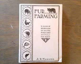 Vintage Book Fur Farming by A R Harding Revised by L H Adams Softcover 1964