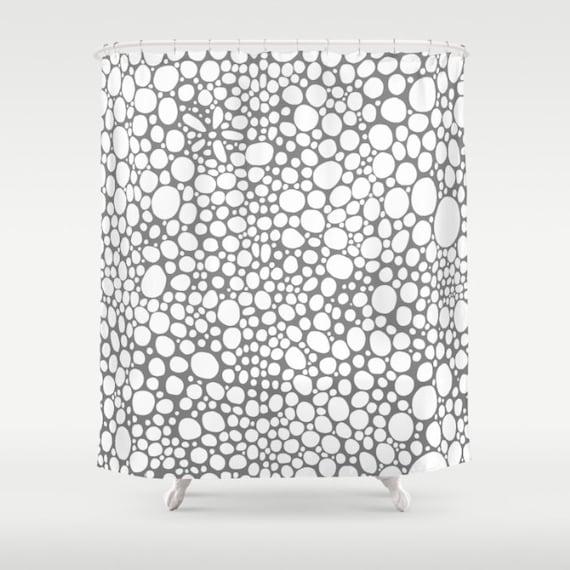 Grey shower curtain art funky shower curtain modern shower - Funky bathroom accessories uk ...