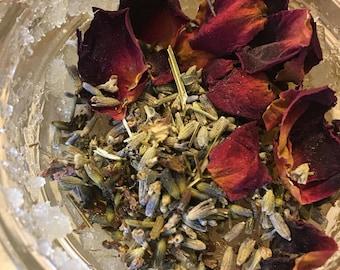 Organic Lavender and rose sugar scrub