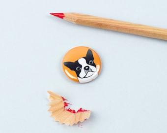 Boston Terrier Badge - Boston Terrier Pin - Dog Breed Badge - Dog Button - Dog Lover - Gift for Pet Lover