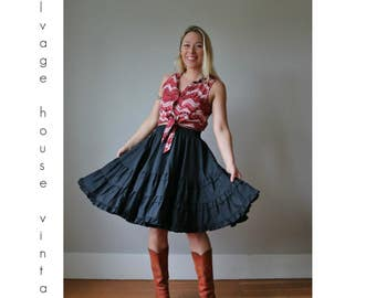 1970s Square Dance Skirt /// Size Small to Medium