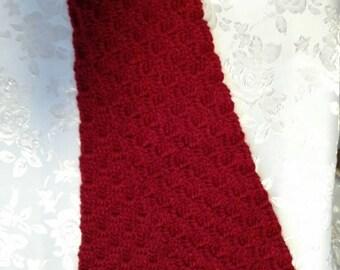 Handmade Crochet scarf nice and soft  6 x 47
