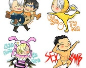 Yuri On Ice fan made stickers