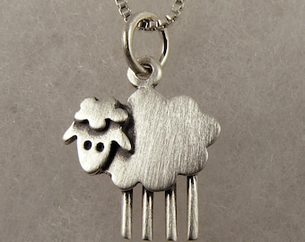 Tiny sheep necklace / pendant