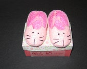 American Made 15 inch Girl Doll Size Kitty Cat Slippers Shoes great for Bitty Baby