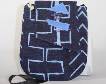 Indigo Mudcloth Minix Bag
