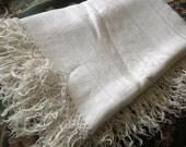 Reserved For Loves2Junk Tablecloth, Linen Damask, fringe