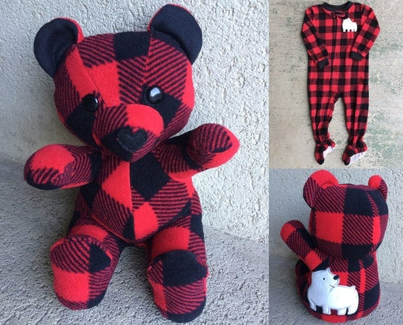 Keepsake Memory Teddy Bear Upcycled From Your Own Fabric