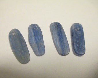 4 Blue Shell Pendants Findings Jewelry Making Supplies Jenuine Crafts