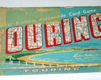 Vintage (1958) Parker Brothers Touring Card Game