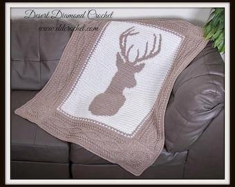 Deerly Beloved Deer Afghan Throw - In Stock Ready to Ship!