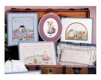 Vintage Country Girls Cross Stitch Patterns Love Friendship Mother Old Fashioned Girls Pictures Patterns to Embroider Embroidery Pattern