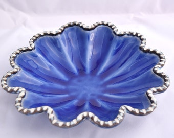Candy Dish in Royal Blue- Ceramic Stoneware Pottery
