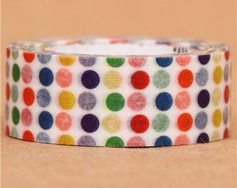 182013 colorful polka dots mt Washi Masking Tape deco tape