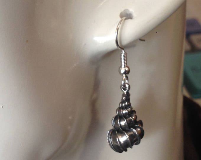 Shell earrings made with Australian Pewter and Surgical Steel hook