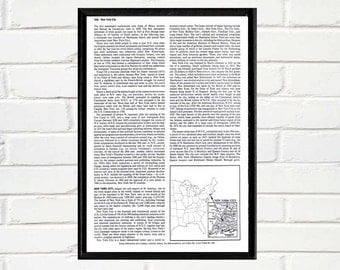 NewYork with Map of NewYork dictionary page background for your art print mixed media art collage vintage book page printable download DIY
