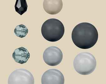 Swarovski Black Pearl Selection Bead Packages