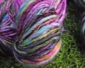Handspun yarn, handpainted thick and thin hand dyed BFL wool yarn, multiple skeins available-Carousel