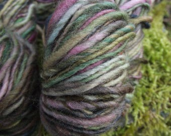 Handspun yarn, handpainted thick and thin, Organic Polwarth wool, multiple skeins available-LADY COTTINGTON