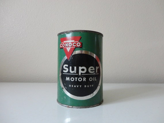 Items Similar To Vintage Conoco Super Motor Oil 1 Quart