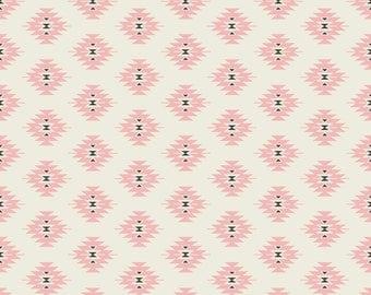 Pink Navajo Fabric - Bohemian Princess - By Bohemiangypsyjane - Southwestern Geometric Cotton Fabric By The Yard With Spoonflower