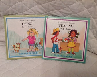 2--Vintage--1988--Help Me Be Good Series--Joy Berry BOOKS--For Children--Teasing And Lying--Hardcover