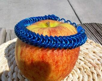 Blue Chain Mail Byzytine Bracelet