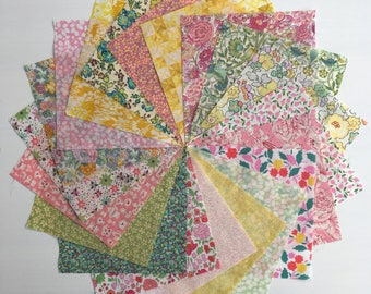 Liberty lawn SPRING FLOWERS charm pack - 20 Liberty of London Tana Lawn  Fabric 5 inch squares