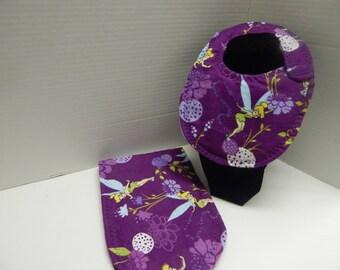 Newborn Baby  Bib and Burp Cloth Set Disney Tinker Bell