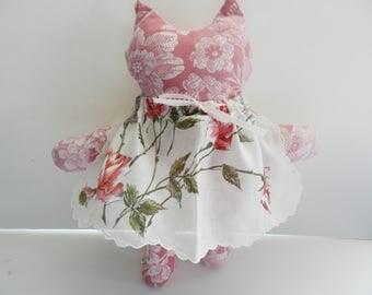 Kitten Doll, Cat Stuffed Doll, Hankie Kitten Doll, Animal Stuffed Doll, Kitten Stuffed Animal,