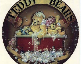 Decals for Ceramic, Teddy Bears, Teddies, Vintage, Retro, Cute