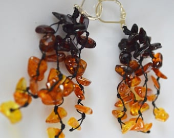 Natural Baltic Polish Amber  Earrings -part of the set  JUST STUNNING