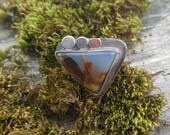 Reserved Montana Agate and Sterling Silver RING size 7