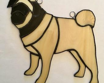 Stained Glass Pug, Custom