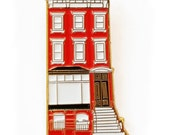 Brownstone Enamel Pin