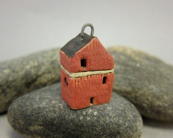 Old Red Barn...Stoneware Pendant