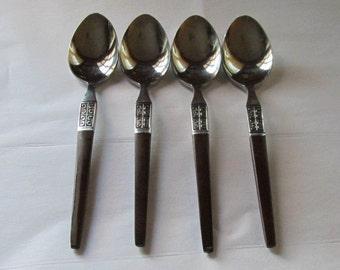 Vintage Ekco Eterna Lajoya La Joya Spoons Teaspoons 4