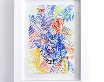 "Solar Plexus - original 6"" x 8"" watercolor painting"