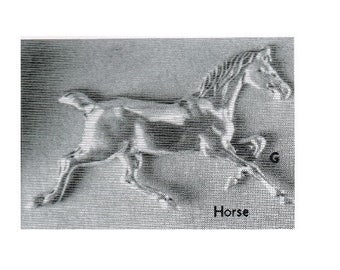 42mm Wide~ HORSE casting ~ Solid Sterling Silver  ~ to be ordered ~ #EFJ-707 ~  FDK