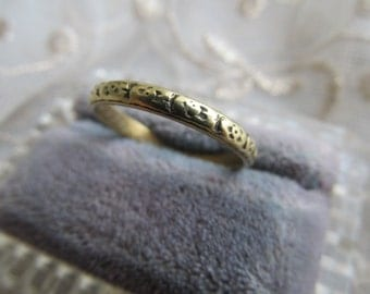 Danusharose Vintage Antique Inscribed Sept 10 1921 WedBand 18K Buttery Yellow Gold 9.5 Eternity Band Ring with Fine Jewelry Report