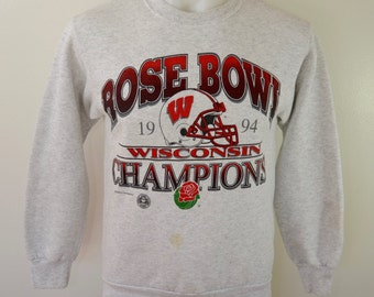 Vintage UW Wisconsin BADGERS Rose Bowl 1994 sweatshirt Medium made in usa
