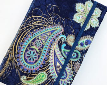 Kindle Papewhite Cover, Nook Glowlight Plus Case , Kindle Fire, Navy Metallic Paisley Tablet Cover, all sizes