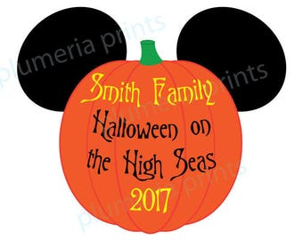 Handmade Disney Inspired LARGE Halloween Mouse Head Pumpkin Family Magnet