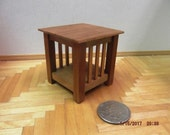 Miniature Mission Style End Table