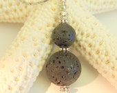 Aromatherapy Pendant, Oil Diffuser Jewelry, Lava Rock Pendant Necklace, Handcrafted Jewelry, Gift for Her