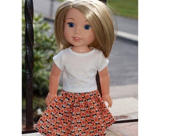 14 inch Doll  Skirt Outift will fit Dolls like  Wellie Wishes - Skirt Outfit