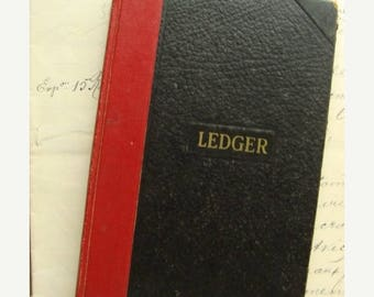 ON SALE Antique 1952 Amazing Diary Journal Ledger Book Very Interesting Times