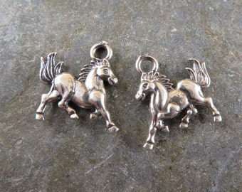 Prancing Horse - Sterling Silver Charm - One Piece - cpph